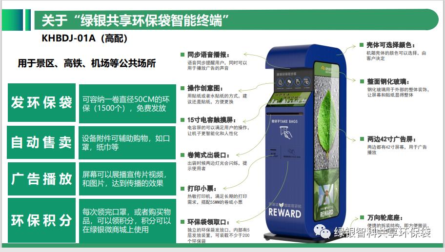 绿色银行生物降解环保袋自助机项目介绍插图10